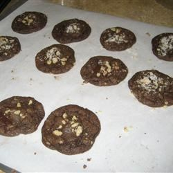 Chewy chocolate cookies with suprise centers!
