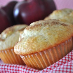 Apple Lemon with Cinnamon Muffins Recipe - A touch of lemon and cinnamon makes these moist apple muffins particularly delicious!