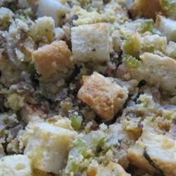 Thanksgiving Stuffing Recipe - This is the stuffing my mother-in-law makes every Thanksgiving, and this is how her mother always made it.