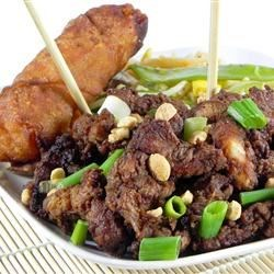 Hunan Chicken Recipe - Slightly spicy and crisply fried chicken strips taste just like Chinese take-out!