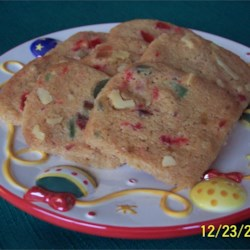 Fruit and Nut Shortbread Recipe - The shortbread cookies form this recipe deliver a great and colorful addition to your Christmas baking collection.