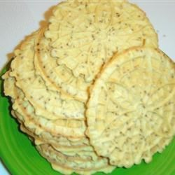Pizzelles IV Recipe - You will need a pizzelle iron to make these traditional Italian cookies.