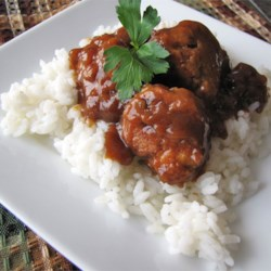 The Best Sweet and Sour Meatballs Recipe - Beef meatballs are browned, then simmered in a sweet and sour sauce. Great as an appetizer or as a main dish served over rice.