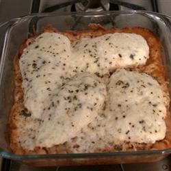 Baked Italian Chicken and Pasta Recipe - It couldn't be easier, or tastier...in this dish, the pasta cooks right in the sauce, so you simply combine all ingredients, cover and bake.  This recipe is a mom's best friend.