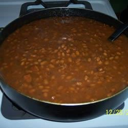 Baked Beans II Recipe - Quick and easy baked beans with bacon and onions.