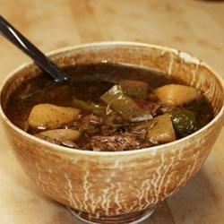 Melissa's Green Chile Stew Recipe - A very delicious and satisfying beef, potato, and green chili stew - especially great with home-made tortillas!