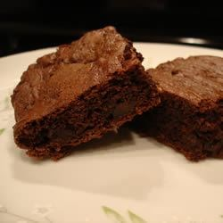 Triple Fudge Brownies Recipe - These are wonderfully fudgy brownies. Best served slightly warm from the oven, but still great tasting the next day.