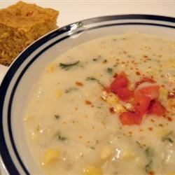 Grandma's Corn Chowder Recipe and Video - A creamy corn chowder - delicious and easy to make!