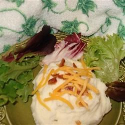 Creamy Mashed Potatoes II Recipe - Creamy mashed potatoes with ranch seasoning in them. Grandma Jan's Thanksgiving dinner mashed potatoes. For a variation, try sprinkling your favorite shredded cheese over the top before baking.