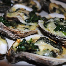 Rockin' Oysters Rockefeller Recipe - This is a slight variation on the classic dish Oysters Rockefeller. Serve this delicious dish and watch your guests cry, 'I love you!'