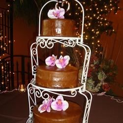White Almond Wedding Cake