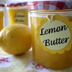 Lemon Butter Recipe - Serve this thick and creamy, lemon-flavored butter warm over gingerbread or blueberry muffins. You can also top ice cream with it! This recipe will also work with margarine instead of butter.