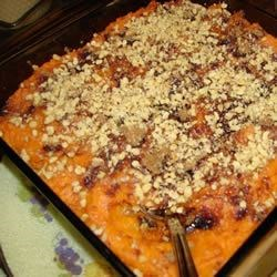 Sweet Potato Casserole IV Recipe - A delicious alternative to candied sweet potatoes. Originally submitted to ThanksgivingRecipe.com.