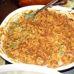 Never Enough Green Bean Casserole Recipe - This is NOT your usual plain green bean casserole. This is a recipe that started with my great-aunt and has been passed around our family for years. People tasting it for the first time ALWAYS want the recipe!