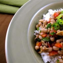 My Hoppin' John Recipe - A thick, hearty stew of black-eyed peas, ham, and rice, this beloved Southern specialty is well-known for bringing good luck to all who eat it on New Year's Day.