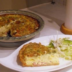 My Guy's No Sissy Ham & Cheese Quiche