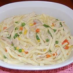 Jona's Creamy Chicken Noodle Crockpot Soup