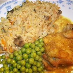 Honey Baked Chicken II with Orzo and Rice