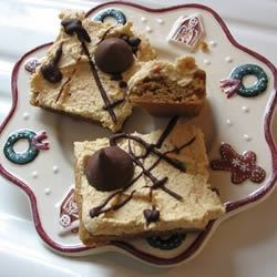 Nutcracker Bars Recipe - This is a recipe for frosted chocolate and peanut butter bars.