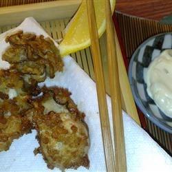 Marvel's Japanese Fried Oysters (Kaki Fuh-rai) with Lemony Tartar Sauce