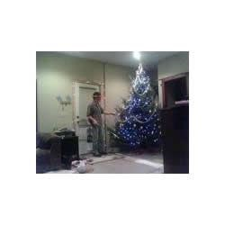 Aaron decorating the tree :)