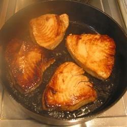 Seared Tuna  Steaks Thai style.