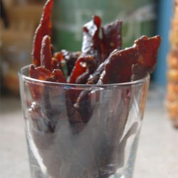 T Bird's Beef Jerky Recipe - This is the very best jerky you have ever tasted, I've tried a lot of them, and this one's the best - you will reward me on this one! I use venison when available, but cheap round steak is great also, and it's all done in your oven.