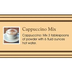Cappuccino in a Jar Recipe Card