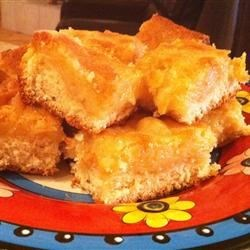 Gooey Butter Cake IV Recipe - A sweet yeasted dough with a gooey butter topping.
