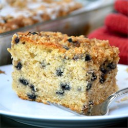 Blueberry Buttermilk Coffeecake Recipe - Simple, delicious coffee cake recipe that my mom made for company.  I took the basic recipe and added blueberries.