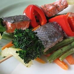 Gingery Fish Kabobs Recipe - Men who eat fish just once a month have fewer ischemic (blocked blood vessel) strokes, says a Harvard study. For your dose, try this easy summer recipe.