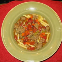 Italian Sausage Soup II Recipe - A great soup for dinner, can be made as spicy as you like, and freezes wonderfully. Add freshly grated Parmesean to the top, and serve with a hot crusty piece of ciabatta bread.  YUM!