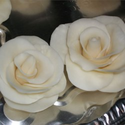 White chocolate roses