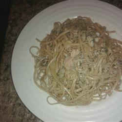 Spaghetti with White Clam Sauce Recipe - In less than the time it takes to boil pasta, you can whip up a tasty sauce of canned clams seasoned with sauteed garlic, parsley, oregano, basil and pepper. Toss with hot spaghetti and grate a little Romano cheese over the top.