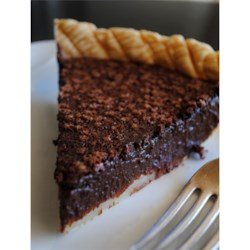 Chocolate Chess Pie II Recipe -  The classic sweet and gooey Chess Pie becomes even more wonderful with the addition of unsweetened cocoa. This recipe yields a delicious 9-inch pie.