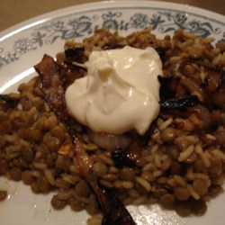 Lentils and Rice with Fried Onions (Mujadarrah) Photos ...