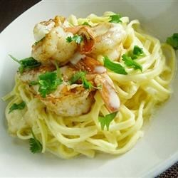 Cajim Shrimp with Creamy Parmesan Sauce