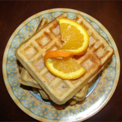Nutty Pecan Waffles Recipe - Sweet and nutty waffles to warm any winter morning.