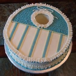 Baby bib cake