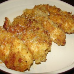 Breaded Parmesan Chicken Recipe -   The never-ending search for perfect comfort food may very well lead here, with a pleasing arrangement of chicken coated with herbed parmesan.
