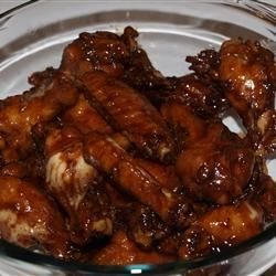 Chicken Wings Pacifica Recipe - Chicken wings steep and then bake in a sweetened soy marinade with dry mustard added for bite.