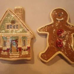 Decorated dough ornaments
