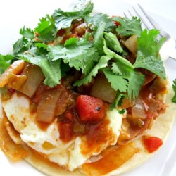 Authentic Huevos Rancheros Recipe and Video - This is an easy to make tostada-type breakfast that will definitely satisfy your hunger until lunch.