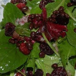 Green Salad with Dried Cherries and Chocolate Nibs
