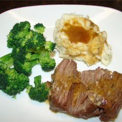 Pot Roast in Foil Recipe - This basic recipe is recommended for blushing brides and other beginners. Vegetables, such as carrots, potatoes, and celery can be done along with the roast, if desired.
