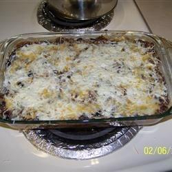 Layered in cassarole dish