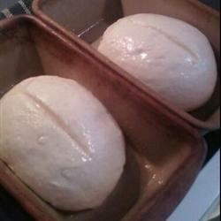 Amish White Bread ready for 2nd rise