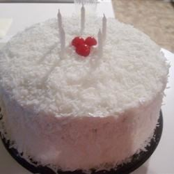 Coconut Cake with Divinity Icing