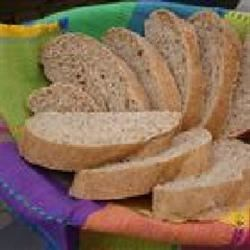 Whole Wheat Bread I Recipe - Cracked wheat berries give nutty taste and texture to this honey wheat bread made with lard.