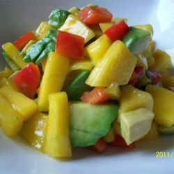 Avocado-Mango Salsa Recipe - This salsa is quick and easy to make, plus it's delicious! Once you taste it, you won't be able to stop eating it!